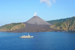Ship Sounding Off Barren Island
