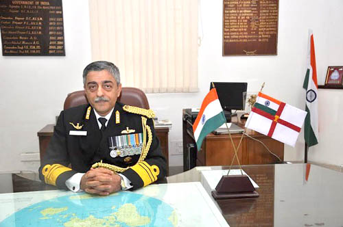 Vice Admiral Vinay Badhwar, AVSM, NM, Chief Hydrographer to the Govt. of India